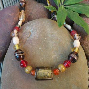 Trade Beads No. 10, Bronze & Red