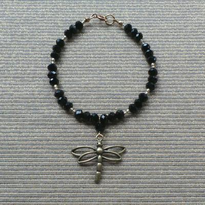 Dragonfly Bracelet, Black