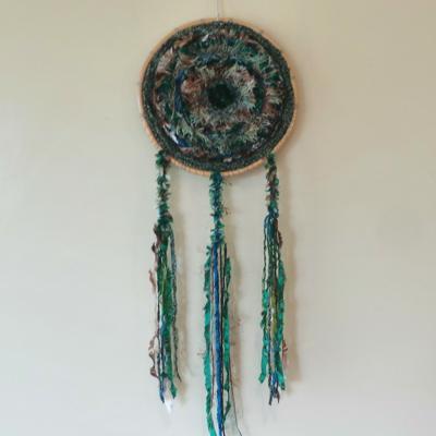 Wind Weaving - Green & Natural