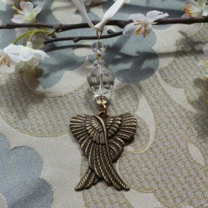 Wedding Charm, Angel - Cream/Bronze