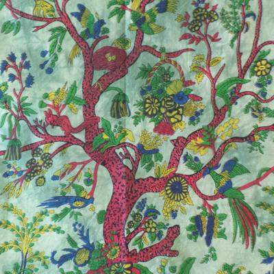 Altar Cloth, Tree of Life India - Green/Rust
