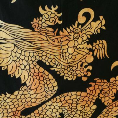 Altar Cloth, Chinese Dragon - Yellow/Black