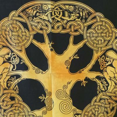Altar Cloth, Tree of Life Celtic - Yellow/Black
