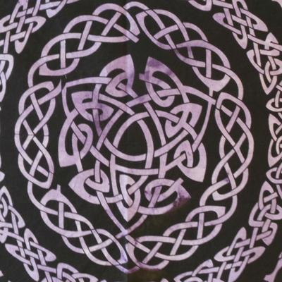 Altar Cloth, Celtic Mandala - Purple/Black