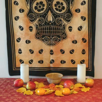 Altar Cloth, Day of The Dead - Yellow/Black