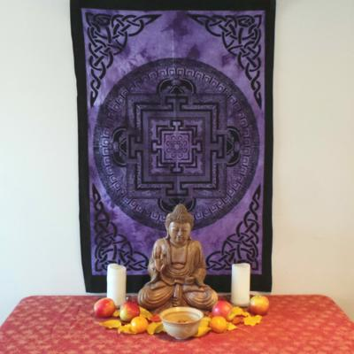 Altar Cloth, Mandala Buddhist - Purple