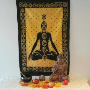 Altar Cloth, Chakra - Yellow/Black