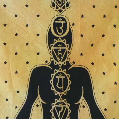Altar Cloth, Chakra - Yellow/Black