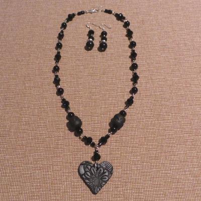 Gothic Style Heart  - Black