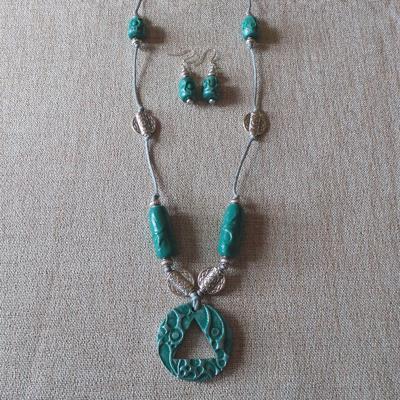 Atlantis Necklace & Earring Set - Teal