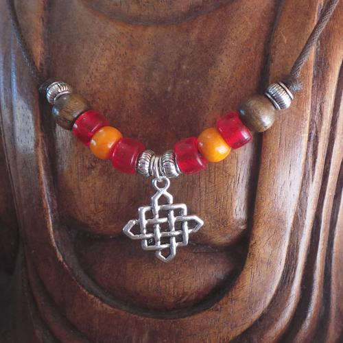Lucky Endless Knot, Red/Orange