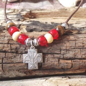 Alpha & Omega Cross, Red/Cream
