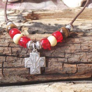 Alpha & Omega Cross, Red/Cream