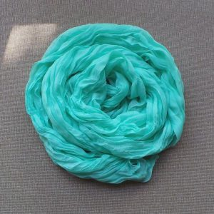 Scarf Cotton Voil Crinkle, Mint