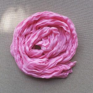 Scarf Cotton Voil Crinkle, Pink