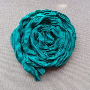 Scarf Cotton Voil Crinkle, Teal