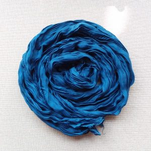 Scarf Cotton Voil Crinkle, Navy