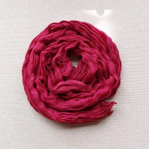 Scarf Cotton Voil Crinkle, Burgundy