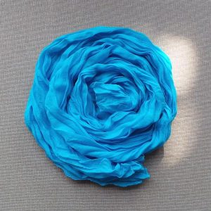 Scarf Cotton Voil Crinkle, Light Blue