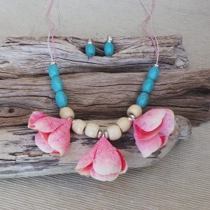 Torquay Inspirations Necklace Set - Pink/Turquoise